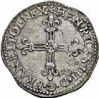 Photo numismatique  ARCHIVES VENTE 2015 -26-28 oct -Coll Jean Teitgen MONNAIES OBSIDIONALES SAINT-QUENTIN. Assiégée puis reprise par les espagnols, 1589  664- Quart d'écu, 1589.