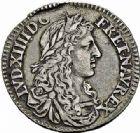Photo numismatique  ARCHIVES VENTE 2015 -26-28 oct -Coll Jean Teitgen COLONIES FRANCAISES (1640-1843) LOUIS XIV (14 mai 1643-1er septembre 1715)  676- CANADA. 5 Sols ou 1/12ème d'écu, 1670, (édit du 19février).