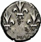 Photo numismatique  ARCHIVES VENTE 2015 -26-28 oct -Coll Jean Teitgen COLONIES FRANCAISES (1640-1843) LOUIS XV (1er septembre 1715-10 mai 1774) Indes françaises, Pondichéry 680- Double fanon d'argent (sans date).
