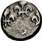 Photo numismatique  ARCHIVES VENTE 2015 -26-28 oct -Coll Jean Teitgen COLONIES FRANCAISES (1640-1843) LOUIS XV (1er septembre 1715-10 mai 1774) Indes françaises, Pondichéry 681- Fanon d'argent (sans date).
