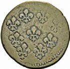 Photo numismatique  ARCHIVES VENTE 2015 -26-28 oct -Coll Jean Teitgen COLONIES FRANCAISES (1640-1843) LOUIS XV (1er septembre 1715-10 mai 1774) Iles de France et Bourbon 682- 2 sols, Pondichéy, 1721/1723.