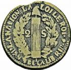 Photo numismatique  ARCHIVES VENTE 2015 -26-28 oct -Coll Jean Teitgen COLONIES FRANCAISES (1640-1843) REVOLUTION FRANCAISE Ile de Saint Domingue 689- Imitations françaises de (1793-1801). 2 sous de Saint-Domingue daté 1791.