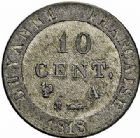 Photo numismatique  ARCHIVES VENTE 2015 -26-28 oct -Coll Jean Teitgen COLONIES FRANCAISES (1640-1843) LOUIS XVIII, 2e restauration (8 juillet 1815-16 septembre 1824) Guyane 692- 10 centimes de Guyane, 1818.