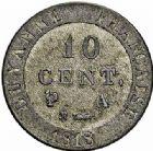 Photo numismatique  ARCHIVES VENTE 2015 -26-28 oct -Coll Jean Teitgen COLONIES FRANCAISES (1640-1843) LOUIS XVIII, 2e restauration (8 juillet 1815-16 septembre 1824) Guyane 692- 10 centimes de Guyane, 1818.