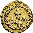 Photo numismatique  ARCHIVES VENTE 2015 -26-28 oct -Coll Jean Teitgen METZ ET SA REGION de la GAULE aux CAROLINGIENS CITES MEROVINGIENNES DE MOSELLE METZ (Mettis) 727- Triens du monétaire Chuldericus (vers 620-640).