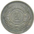 Photo numismatique  MONNAIES MONNAIES DU MONDE URUGUAY République (depuis 1828) 2 centesimos de 1869.