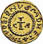 Photo numismatique  ARCHIVES VENTE 2015 -26-28 oct -Coll Jean Teitgen METZ ET SA REGION de la GAULE aux CAROLINGIENS CITES MEROVINGIENNES DE MOSELLE METZ (Mettis) 729- Triens du monétaire Theudelenus (620-640).