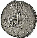 Photo numismatique  ARCHIVES VENTE 2015 -26-28 oct -Coll Jean Teitgen EVECHE DE METZ THIERRY Ier (965-984)  et OTTON II (973-983)  739- Denier, Metz.