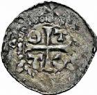 Photo numismatique  ARCHIVES VENTE 2015 -26-28 oct -Coll Jean Teitgen ÉVECHE DE METZ ADALBERON II (984-1004) et OTTON III (983-1002)  741- Denier sans titre.