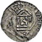 Photo numismatique  ARCHIVES VENTE 2015 -26-28 oct -Coll Jean Teitgen EVECHE DE METZ THIERRY II (1005-1047) et HENRI II roi puis empereur (1002-1014-1024)  742- Denier avec Presul.