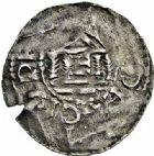 Photo numismatique  ARCHIVES VENTE 2015 -26-28 oct -Coll Jean Teitgen EVECHE DE METZ THIERRY II (1005-1047) et HENRI II roi puis empereur (1002-1014-1024)  743- Denier.