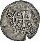 Photo numismatique  ARCHIVES VENTE 2015 -26-28 oct -Coll Jean Teitgen ÉVECHE DE METZ THIERRY II (1005-1047) et HENRI II roi puis empereur (1002-1014-1024)  743- Denier.