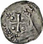 Photo numismatique  ARCHIVES VENTE 2015 -26-28 oct -Coll Jean Teitgen EVECHE DE METZ THIERRY II (1005-1047) et HENRI II roi puis empereur (1002-1014-1024)  744- Obole.