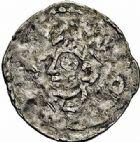 Photo numismatique  ARCHIVES VENTE 2015 -26-28 oct -Coll Jean Teitgen EVECHE DE METZ THIERRY II (1005-1047) et HENRI II roi puis empereur (1002-1014-1024)  745- Denier autonome à la tête.