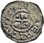 Photo numismatique  ARCHIVES VENTE 2015 -26-28 oct -Coll Jean Teitgen EVECHE DE METZ THIERRY II (1005-1047) et HENRI II roi puis empereur (1002-1014-1024)  746- Denier autonome, bilinéaire.