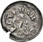 Photo numismatique  ARCHIVES VENTE 2015 -26-28 oct -Coll Jean Teitgen EVECHE DE METZ ADALBERON IV (1103-1115)  752- Denier, à la croix cantonnée d'étoiles.