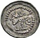 Photo numismatique  ARCHIVES VENTE 2015 -26-28 oct -Coll Jean Teitgen EVECHE DE METZ MONNAYAGE ANONYME (XIIe siècle)  757- Denier. Autre exemplaire varié.