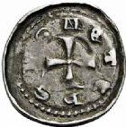 Photo numismatique  ARCHIVES VENTE 2015 -26-28 oct -Coll Jean Teitgen EVECHE DE METZ JEAN Ier d'Apremont (1224-1238)  776- Denier, Metz.