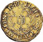 Photo numismatique  ARCHIVES VENTE 2015 -26-28 oct -Coll Jean Teitgen CITE IMPÉRIALE DE METZ Monnayage d'or  842- Florin d'or, 1639.