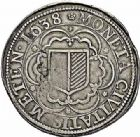 Photo numismatique  ARCHIVES VENTE 2015 -26-28 oct -Coll Jean Teitgen CITE IMPÉRIALE DE METZ Monnayage d'argent  845- Thaler à l'écu simple, 1638.