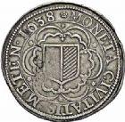 Photo numismatique  ARCHIVES VENTE 2015 -26-28 oct -Coll Jean Teitgen CITE IMPÉRIALE DE METZ Monnayage d'argent  845- Thaler à l'écu simple, 1638.