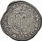 Photo numismatique  ARCHIVES VENTE 2015 -26-28 oct -Coll Jean Teitgen CITE IMPERIALE DE METZ Monnayage d'argent  847- 1/2 thaler inédit à l'écu échancré, 1638.