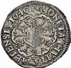 Photo numismatique  ARCHIVES VENTE 2015 -26-28 oct -Coll Jean Teitgen CITE IMPERIALE DE METZ Monnayage d'argent  849- 1/4 de thaler au buste et à l'écu échancré, 1640.