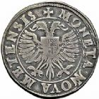 Photo numismatique  ARCHIVES VENTE 2015 -26-28 oct -Coll Jean Teitgen CITE IMPERIALE DE METZ Monnayage d'argent  851- Teston, 2ème type, 1593.