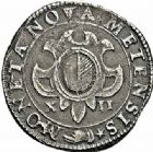 Photo numismatique  ARCHIVES VENTE 2015 -26-28 oct -Coll Jean Teitgen CITE IMPERIALE DE METZ Monnayage d'argent  853- Franc de 12 gros, 1er type 1611.