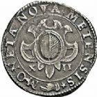 Photo numismatique  ARCHIVES VENTE 2015 -26-28 oct -Coll Jean Teitgen CITE IMPÉRIALE DE METZ Monnayage d'argent  853- Franc de 12 gros, 1er type 1611.
