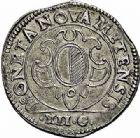 Photo numismatique  ARCHIVES VENTE 2015 -26-28 oct -Coll Jean Teitgen CITE IMPERIALE DE METZ Monnayage d'argent  854- Franc de 12 gros, 2ème type 1611.