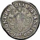 Photo numismatique  ARCHIVES VENTE 2015 -26-28 oct -Coll Jean Teitgen CITE IMPERIALE DE METZ Monnayage d'argent  855- Franc de 12 gros, 1614.