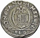 Photo numismatique  ARCHIVES VENTE 2015 -26-28 oct -Coll Jean Teitgen CITE IMPERIALE DE METZ Monnayage d'argent  856- 1/2 franc de 6 gros, 1621.