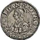 Photo numismatique  ARCHIVES VENTE 2015 -26-28 oct -Coll Jean Teitgen CITE IMPERIALE DE METZ Monnayage d'argent  857- 1/2 franc de 6 gros, 1623.