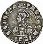 Photo numismatique  ARCHIVES VENTE 2015 -26-28 oct -Coll Jean Teitgen CITE IMPÉRIALE DE METZ Monnayage d'argent  858- 1/4 de franc de 3 gros, 1621.