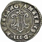 Photo numismatique  ARCHIVES VENTE 2015 -26-28 oct -Coll Jean Teitgen CITE IMPERIALE DE METZ Monnayage d'argent  858- 1/4 de franc de 3 gros, 1621.