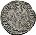 Photo numismatique  ARCHIVES VENTE 2015 -26-28 oct -Coll Jean Teitgen CITE IMPERIALE DE METZ Monnayage d'argent  861- Gros au saint Étienne agenouillé, type 1, (1406 - fin XVe siècle).