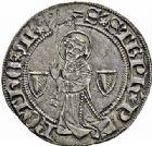Photo numismatique  ARCHIVES VENTE 2015 -26-28 oct -Coll Jean Teitgen CITE IMPERIALE DE METZ Monnayage d'argent  862- Gros au saint Étienne agenouillé.