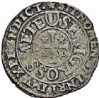Photo numismatique  ARCHIVES VENTE 2015 -26-28 oct -Coll Jean Teitgen CITE IMPERIALE DE METZ Monnayage d'argent  867- 1/2 gros au saint agenouillé, 1er groupe, non daté.