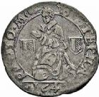 Photo numismatique  ARCHIVES VENTE 2015 -26-28 oct -Coll Jean Teitgen CITE IMPERIALE DE METZ Monnayage d'argent  868- 1/2 gros au saint agenouillé, 2ème groupe, 1647.