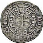 Photo numismatique  ARCHIVES VENTE 2015 -26-28 oct -Coll Jean Teitgen CITE IMPERIALE DE METZ Monnayage d'argent  869- 1/2 gros au saint agenouillé, 2ème groupe, 1649.