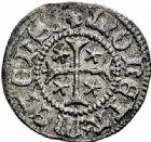 Photo numismatique  ARCHIVES VENTE 2015 -26-28 oct -Coll Jean Teitgen CITE IMPERIALE DE METZ Monnayage de billon  875- 1/2 bugne, type 2, croix cantonnée d'étoiles.