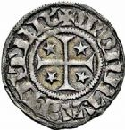 Photo numismatique  ARCHIVES VENTE 2015 -26-28 oct -Coll Jean Teitgen CITE IMPERIALE DE METZ Monnayage de billon  876- 1/2 bugne au saint à genoux (après 1406).