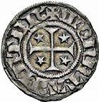 Photo numismatique  ARCHIVES VENTE 2015 -26-28 oct -Coll Jean Teitgen CITE IMPÉRIALE DE METZ Monnayage de billon  876- 1/2 bugne au saint à genoux (après 1406).