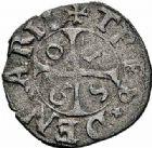 Photo numismatique  ARCHIVES VENTE 2015 -26-28 oct -Coll Jean Teitgen CITE IMPERIALE DE METZ Monnayage de billon  877- Pièces de trois deniers, 1590 (2).