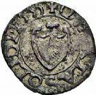 Photo numismatique  ARCHIVES VENTE 2015 -26-28 oct -Coll Jean Teitgen CITE IMPERIALE DE METZ Monnayage de billon  878- Liard ou quart de sou, 1er type, millésime dans la légende, 1555 (1ère année), 1590, 1593.