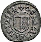 Photo numismatique  ARCHIVES VENTE 2015 -26-28 oct -Coll Jean Teitgen CITE IMPÉRIALE DE METZ Monnayage de billon  881- 1/2 liard ou huitième de sou, 1584.