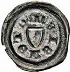 Photo numismatique  ARCHIVES VENTE 2015 -26-28 oct -Coll Jean Teitgen CITE IMPERIALE DE METZ Monnayage d'argent  882- Denier bractéacte, (première moitié du XVe siècle).
