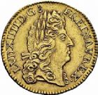 Photo numismatique  ARCHIVES VENTE 2015 -26-28 oct -Coll Jean Teitgen ATELIER ROYAL DE METZ LOUIS XIV (14 mai 1643-1er septembre 1715)  886- Louis d'or à l'écu, Metz (M couronnée) 1691.