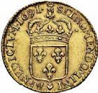 Photo numismatique  ARCHIVES VENTE 2015 -26-28 oct -Coll Jean Teitgen ATELIER ROYAL DE METZ LOUIS XIV (14 mai 1643-1er septembre 1715)  886- Louis d'or à l'écu, Metz (M couronnée) 1691.